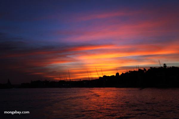 Nile River at Dusk.