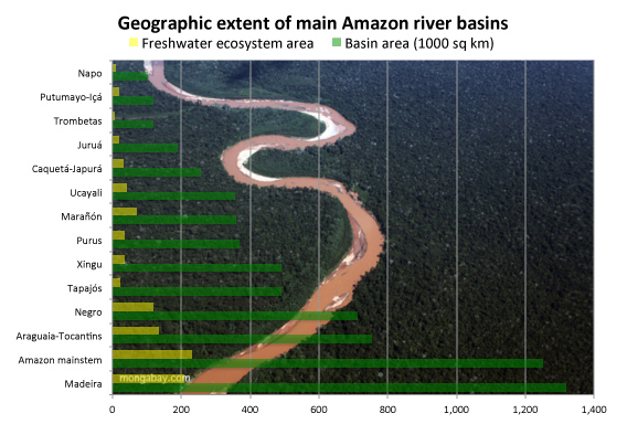 The major Amazon river basins