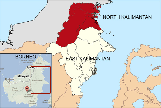 North Kalimantan Map
