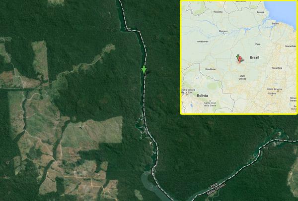 Teles Pires dam site in Brazil