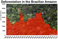 CHART: DEFORESTATION IN THE BRAZILIAN AMAZON