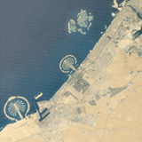 Sprouting of Dubai's artificial islands from 1984-2012
