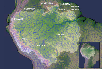 Map of the Amazon River Basin