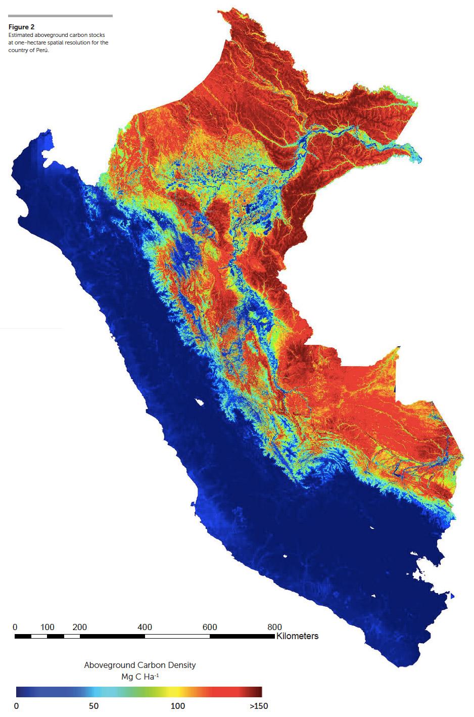 Peru carbon map