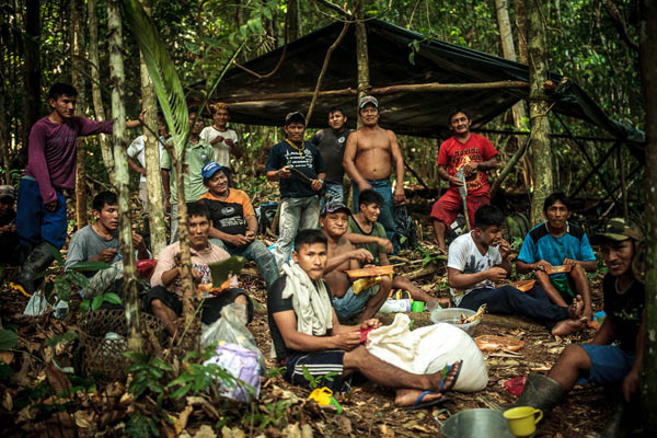 Munduruku congregate for self-demarcation activities. Photo credit: Marcio Isensee e Sá