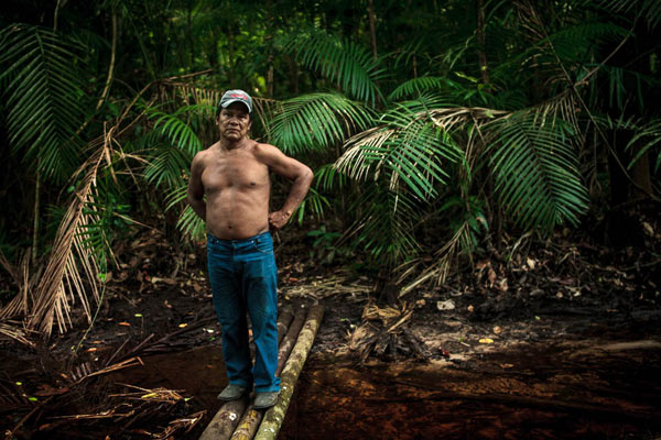 Chief Juarez Saw Munduruku, from the Sawré Muybu Indigenous Land: 'The only way I'm leaving is dead'. Photo credit: Marcio Isensee e Sá