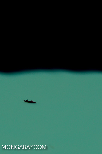 Canoers in Lake Louise