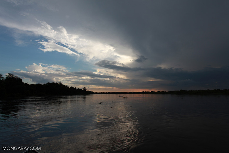 Sunset over the Cuiaba river