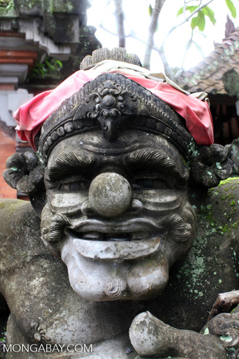Stone carving in ubud