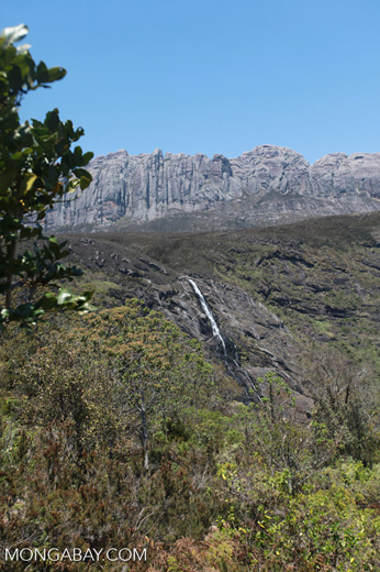 Riambavy and Riandahy waterfalls, components of Zamandao falls, in Andringitra