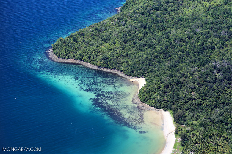 Beaches, coral reefs, and rainforests off Borneo -- sabah_aerial_0119