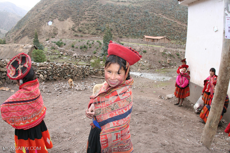 Young girl in Willoq community wearing traditional clothing