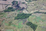 Aerial view of forest fragments in Costa Rica