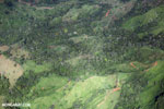Aerial view of deforestation in Costa Rica