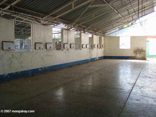 Empty ward at a hospital once used for Sudanese refugees in Lokichoggio