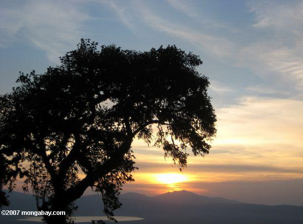 Sunset over Ngorongoro