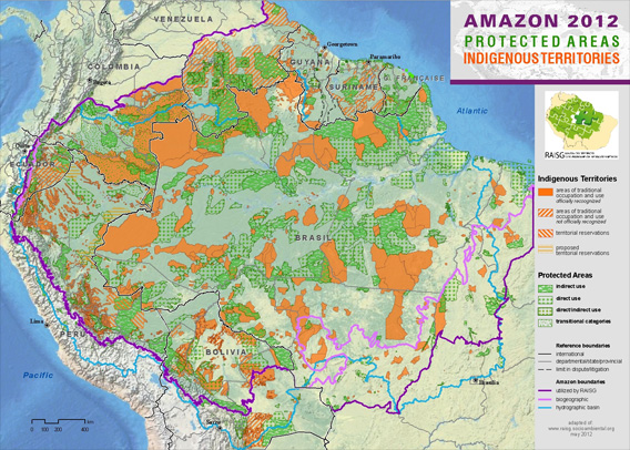 RAISG's map of the Amazon