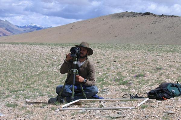 Navinder Singh in the field.