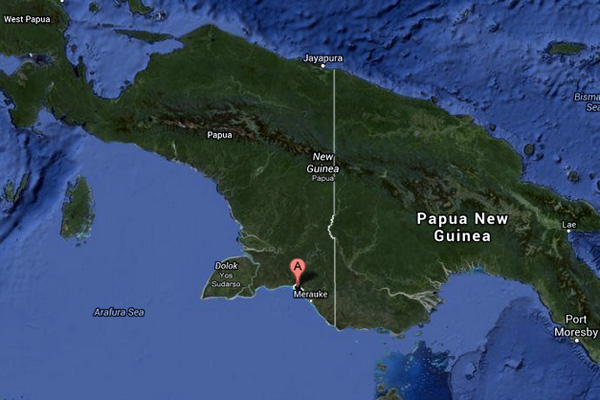 MIFEE project site in Papua, Indonesian New Guinea. Map courtesy of Google Earth.