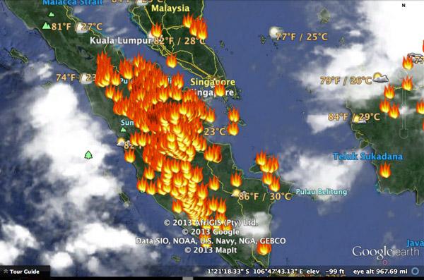 Riau forest fires