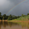 Rainbow over the Kinabatangan River in Malaysian Borneo (Nov 2012). Photo by Rhett A. Butler