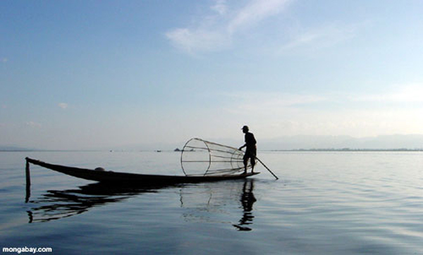 Fishing on Inle Lake.  Photo by Rhenda Glasco.