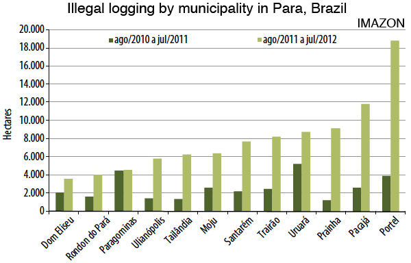 illegal logging by municipality in Para