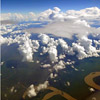 Aerial view of the Amazon river systems