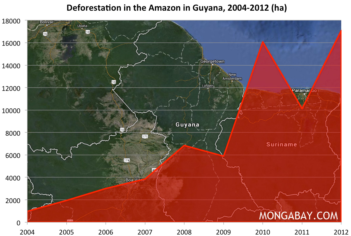 Co2 Emissions By Country >> CHART: Deforestation in the Amazon rainforest in Guyana