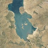 The drying up of Lake Urmia from 1984-2012