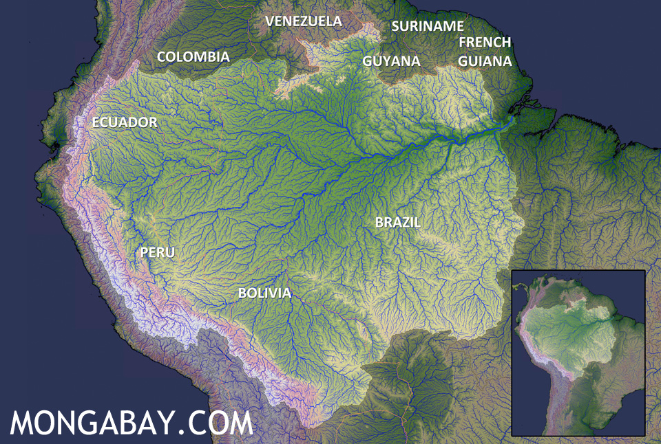 Map Of African Jungle.The Amazon Rainforest