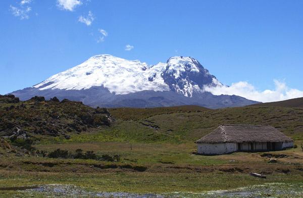 View of the Antisana Volcano