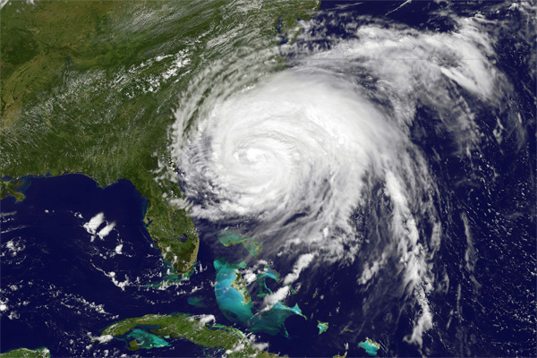 This visible image of Hurricane Irene from the MODIS instrument aboard NASA's Terra satellite.