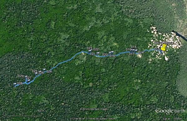 Map courtesy of Google Earth.