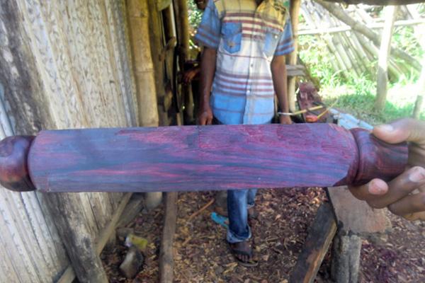 Polished rosewood in Madagascar