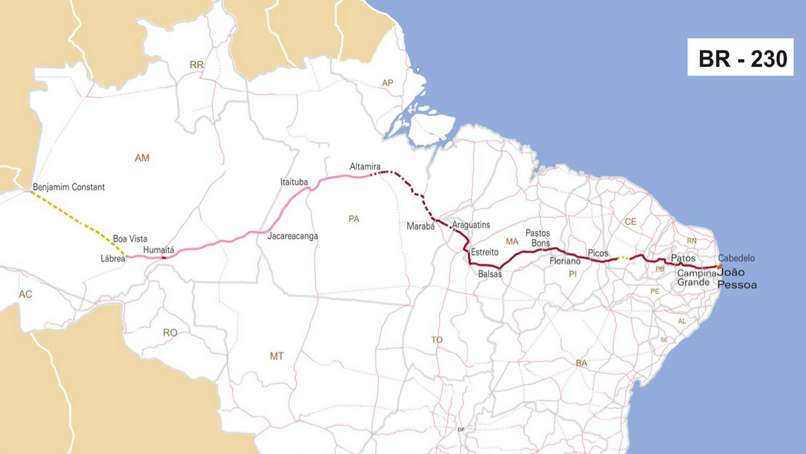 Roads Through The Rainforest An Overview Of South Americas Arc - Brazil large scale road map