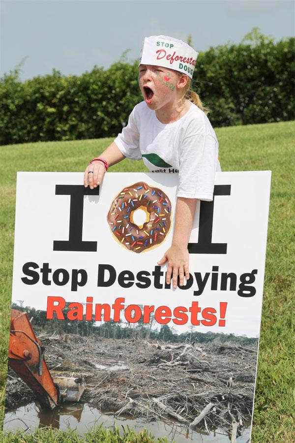 Krispy Kreme protest in Madison