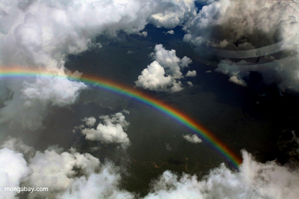 Rainbow over the Amazon.
