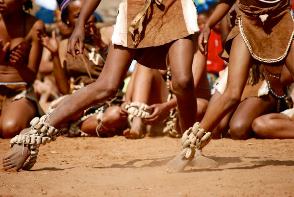 The San peoples of the Kalahari have suffered as a result of exclusionary forms of conservation. c Harry Jonas.