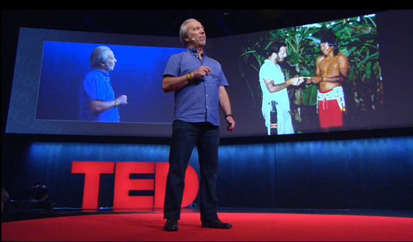 Mark Plotkin speaking at TED Global in October in Brazil.