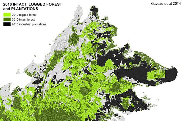 Map of logging in Sabah