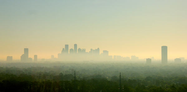 Ozone is a toxic component of the smog that blankets Houston, Texas, in this photo from March 25, 2012. Photo by:  Kyle Colby Jones.