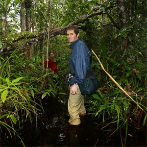 Rhett Butler in a peat swamp in Central Kalimantan, Indonesian Borneo.