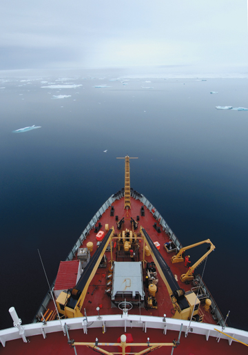 Arctic icebreaker. Funding for climate change science in Arctic Canada has suffered in recent years as a result of the government's assault on environmental issues. Photo by: Edward Struzik.