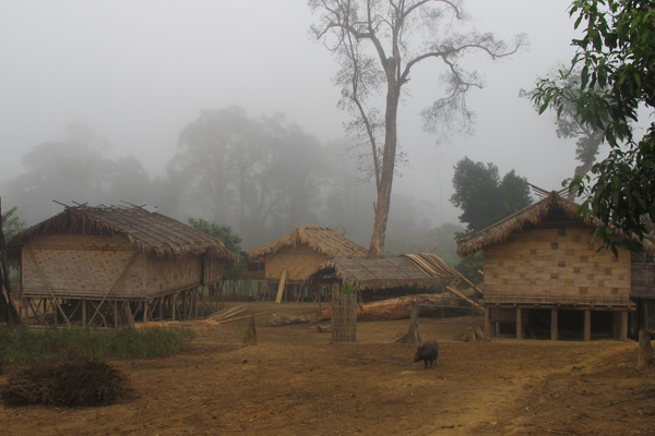 A traditional Mro village.  Photo courtesy of Shahriar Caesar Rahman.