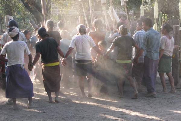 Villagers doing a Mro dance.  Photo courtesy of Shahriar Caesar Rahman.
