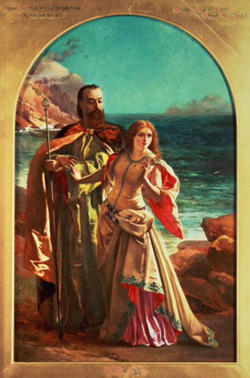 Prospero and Miranda from The Tempest. Painting by: William Maw Egley.