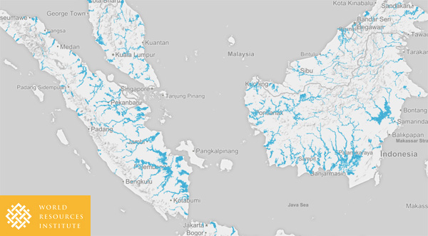 WRI flood map for Indonesia