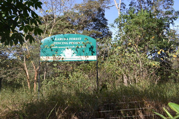 A signpost showing the entry to Karura forest. Photo credit: Protus Onyango.