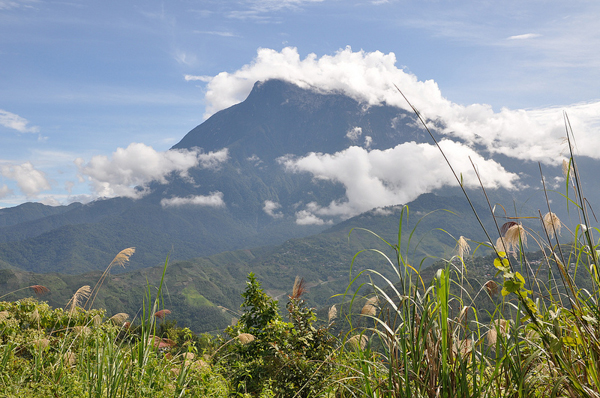 Mt. Kinabalu, in the Crocker Range of Sabah, Malaysia, a UNESCO Biosphere Reserve. Part of the Crocker Range would be flooded if the Kaiduan dam is built.
